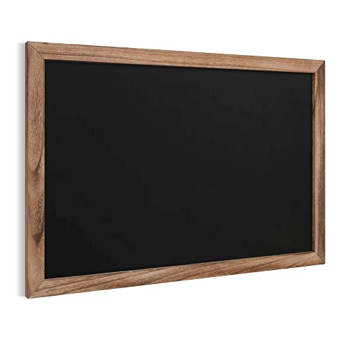 Buy Iwell Large Rustic Chalkboard Sign 35 4 X 23 6 Solid Wood Blackboard Sturdy Chalk Boards Menu Board Surface For Home Decor Kitchen Wedding Restaurants Bar Table Top Hbj003f Online