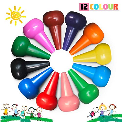 Crayons. Silky Crayons Richgv 12 Colors Rotating Washable Kids Crayons Non-Toxic for Kids /& Toddlers 3