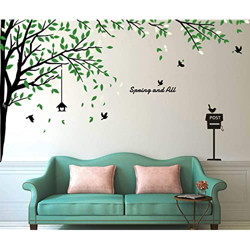 Buy Fymural Large Brids Tree Wall Stickers Art Mural Wallpaper For Livingroom Kid Baby Nursery Background Vinyl Removable Diy Decals 116 9x70 9 Blackgreen Online In Ethiopia B06xcck2x9