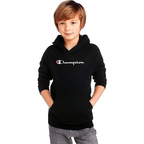 Oxford Heather Big C, Large Champion Kids Clothes Sweatshirts Youth Heritage Fleece Pull On Hoody Sweatshirt with Hood