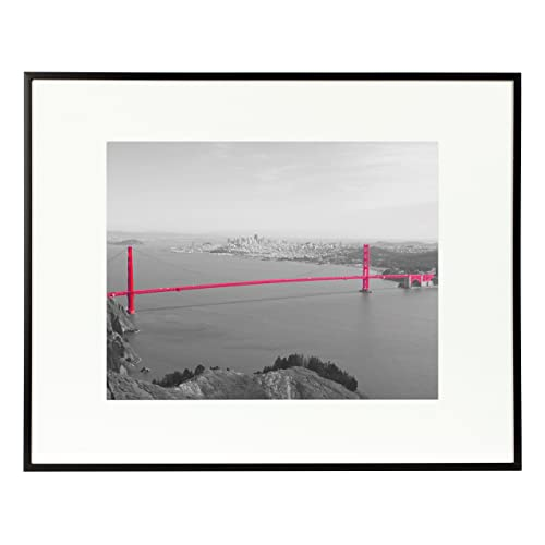 Buy Frametory 11x14 Inch Matte Black Aluminum Metal Picture Frame And Real Glass With Ivory Color Mat For 8x10 Picture Online In Ethiopia B07mfrs79x